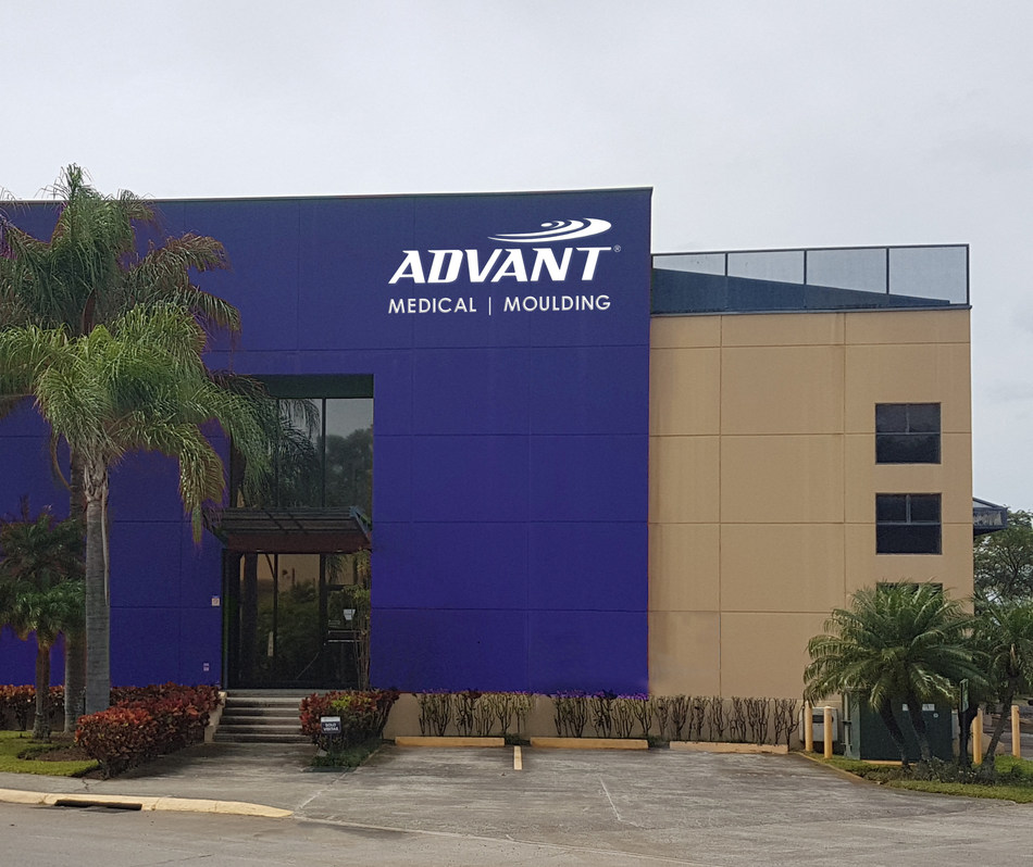 Advant Medical facility, Herdia, Costa Rica launched in 2018 as part of the company's global expansion plans. (PRNewsfoto/Advant Medical)