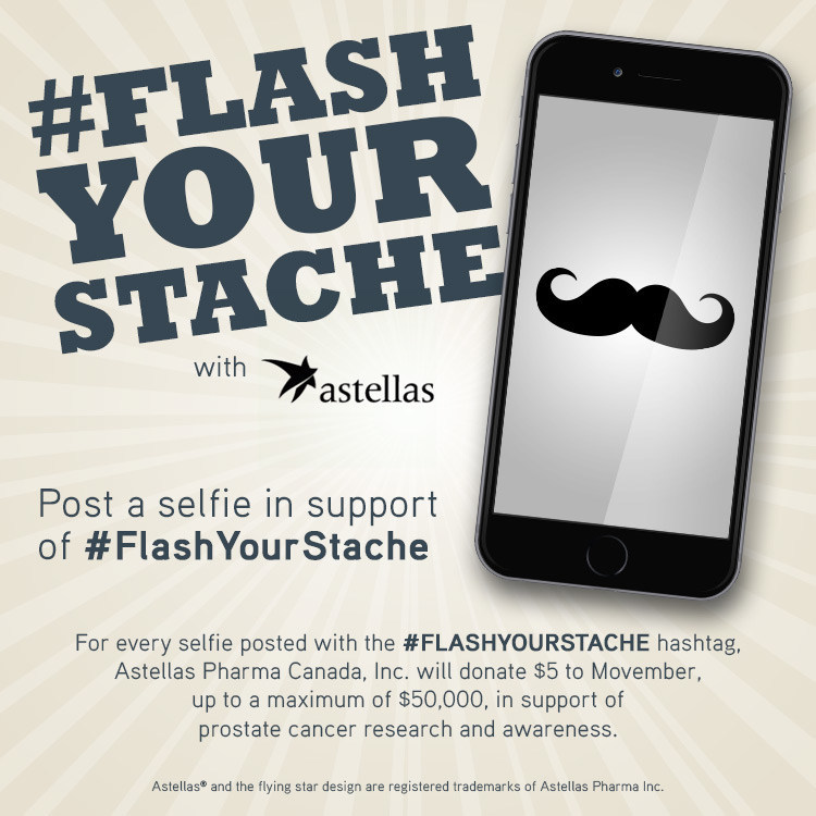 #FlashYourStache (CNW Group/Astellas Pharma Inc.)