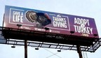 """Peace 4 Animals Promotes a Plant-Based Diet & Supports Farm Sanctuary With New """"Save A Life This Thanksgiving Adopt A Turkey"""" Billboard Campaign in Los Angeles"""
