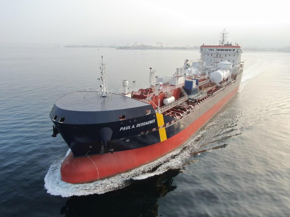 M/T Paul A. Desgagnés - last trials before departure (CNW Group/Groupe Desgagnés inc.)