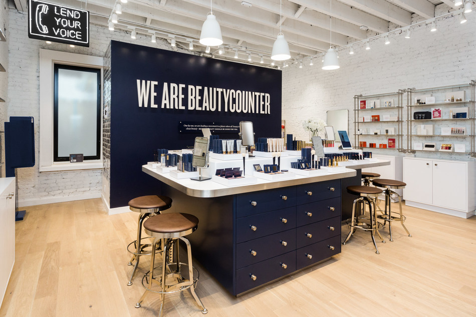 Inside Beautycounter's store at 51 Prince Street