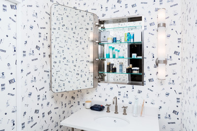Wash room inside the Beautycounter store at 51 Prince Street