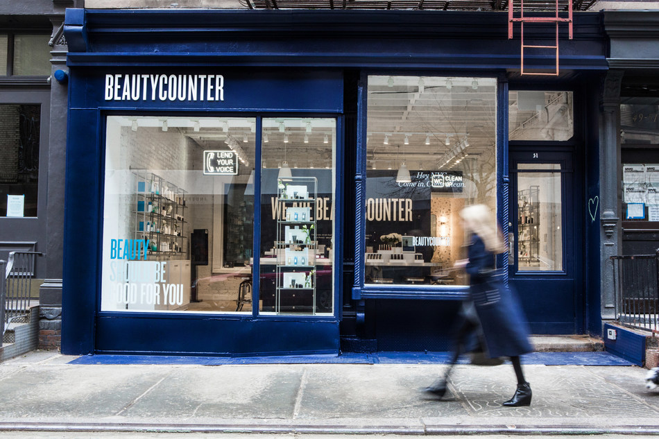 Exterior of the Beautycounter store located at 51 Prince Street.