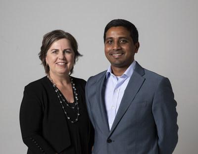 Sarah Adam-Gedge, a futura diretora-executiva da Publicis.Sapient da Austrália, com Nigel Vaz, CEO internacional da empresa (PRNewsfoto/Publicis.Sapient)
