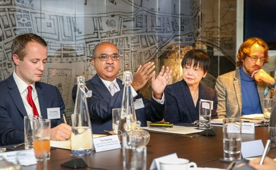Professor Sudhesh Kumar addressing guests at a Japan-UK healthcare business roundtable, hosted by the Government of Japan on 20 November 2018. (PRNewsfoto/The Government of Japan)