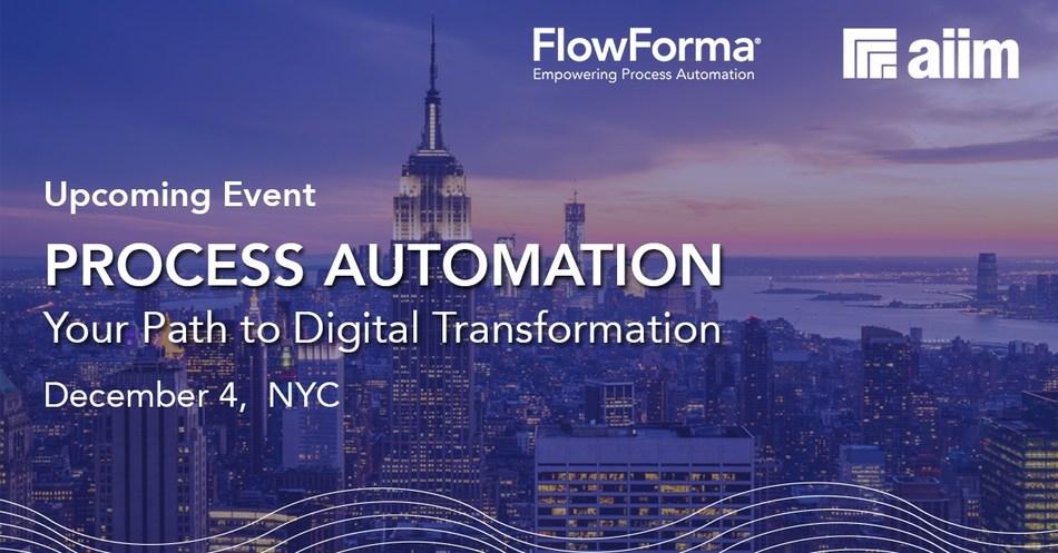 FlowForma--AIIM--Process-Automation-Events (PRNewsfoto/FlowForma)