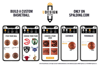 """Spalding announced the launch of its newest e-commerce feature """"U-DESIGN,"""" a basketball customization platform available exclusively at Spalding.com. U-DESIGN offers fans the opportunity to design and personalize an iconic Spalding basketball, from a menu of design options, including all thirty (30) individual National Basketball Association (NBA) team logos or add a laser-engraved personalized custom message into the ball's cover."""