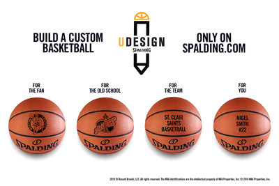 """Spalding announced the launch of its newest e-commerce feature """"U-DESIGN,"""" a basketball customization platform available exclusively at Spalding.com. U-DESIGN offers fans the opportunity to design and personalize an iconic Spalding basketball, from a menu of design options, including all thirty (30) individual National Basketball Association (NBA) team logos, the popular throwback Hardwood Classic retro NBA team logos or add your own personalized custom message."""