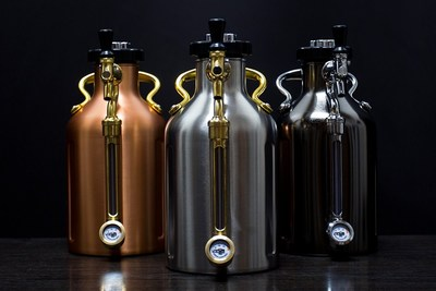 Growlerwerks' stainless-steel uKeg is available in different finishes to suit any dining room, kitchen, hike or sunset.