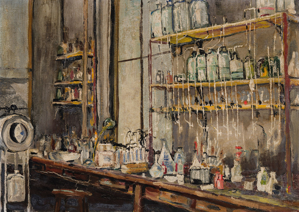 Historic painting depicting Frederick Banting's insulin laboratory sold for $313,250, ten times its presale estimate (CNW Group/Heffel Fine Art Auction House)