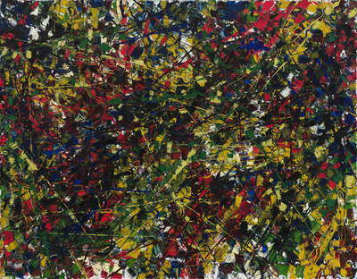 Jouet, a 1953 masterpiece canvas by Jean Paul Riopelle surpassed its presale estimate and sold for $2,881,250 (CNW Group/Heffel Fine Art Auction House)