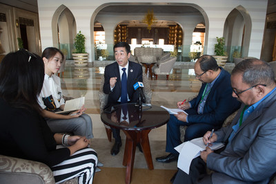 Zhang Jianqiu, CEO of Yili Group, interviewed by the Egyptian media, including Pyramid Evening News and The News