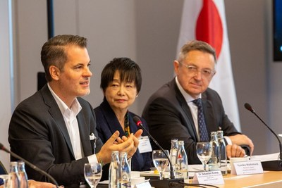 Sebastian Krolop, Partner and Industry Lead for Life Sciences and Health Care, Deloitte Consulting GmbH, addresses guests at a Japan-Germany healthcare business roundtable held in Munich on 21 November 2018, hosted by the Government of Japan. (PRNewsfoto/Government of Japan)