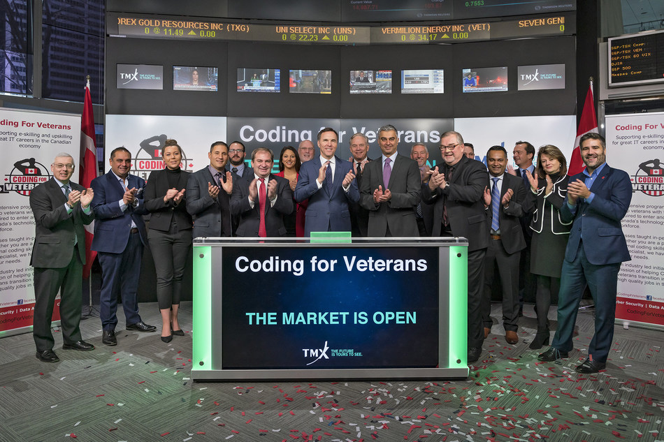 Coding for Veterans Opens the Market (CNW Group/TMX Group Limited)
