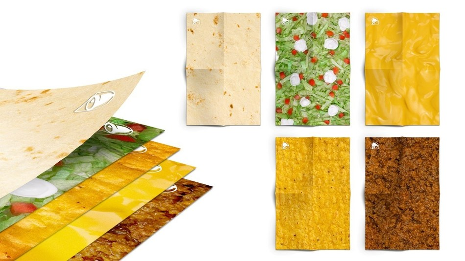 CrunchWrapping Paper from Taco Bell Canada (CNW Group/Taco Bell Canada)