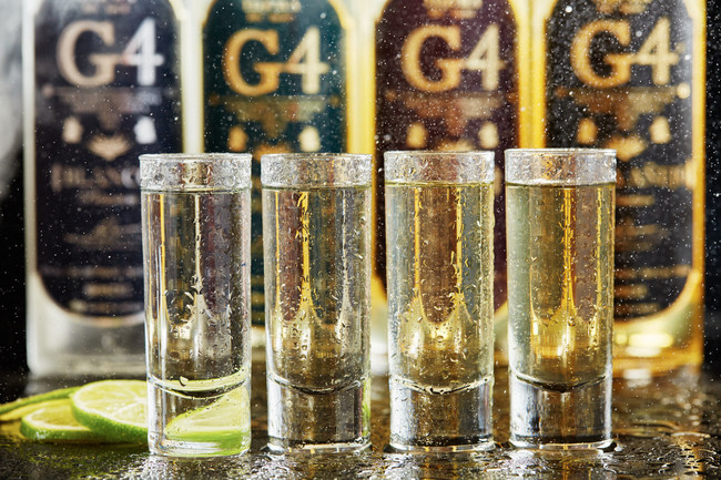 There are four expressions of G4 Tequila: Blanco, Reposado, Anejo, and Extra Anejo.
