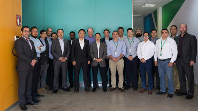 Lunit, Fujifilm, and Salud Digna teams gathered at a Salud Digna Healthcare Network in Mexico.