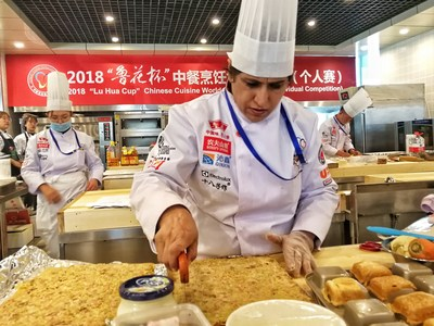 "The scene of 2018 ""LuHua Cup"" Chinese Cooking World Championships (top)"