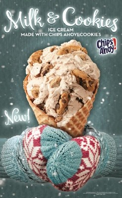 Milk & Cookie Comfort™ – Milk & Cookies Ice Cream made with CHIPS AHOY!® Cookies and Chunky CHIPS AHOY!® Cookies and Cookie Dough