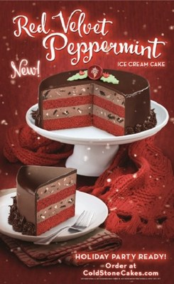 Red Velvet Peppermint™ – Red Velvet Cake & Dark Chocolate Peppermint Ice Cream with OREO® Cookies & Ghirardelli® Peppermint Pieces wrapped in a rich Fudge Ganache.