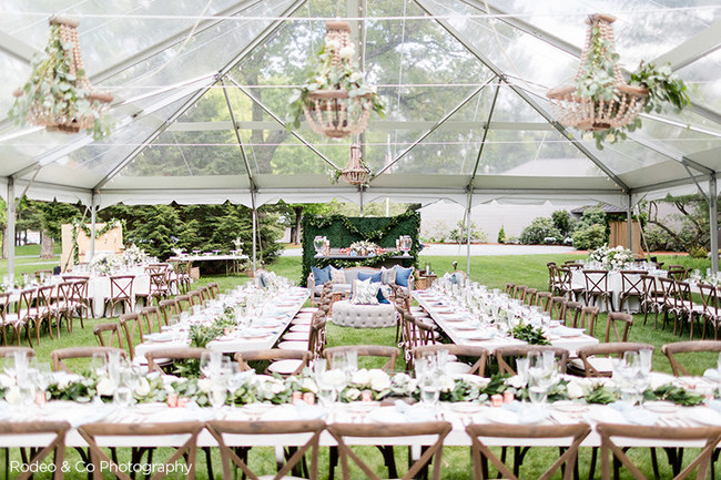 PEAK Event Services makes it easy for clients to conceive, create and execute their events. PEAK partnered with By Emily B to create the ultimate tented venue for this New England wedding, inclusive of a lounge area, custom bar & more.