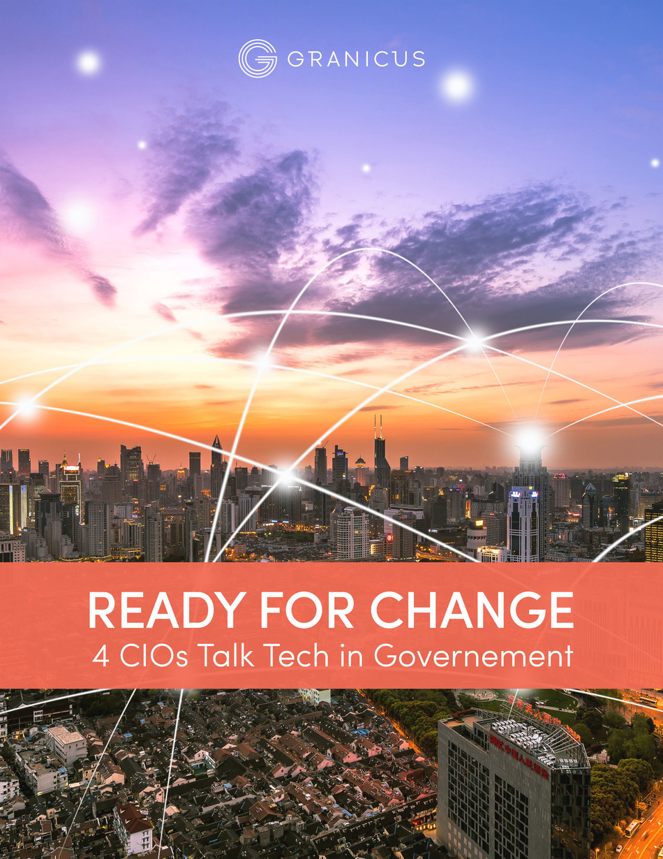Four of the country's leading state and local CIO/CTOs weigh in on trends in government IT and strategic modernization in a new eBook from Granicus, the industry's leading cloud-based solution for communications, meeting and agency management. https://granicus.com/resource/ready-for-change-4-cios-talk-tech-in-government/
