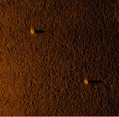 HISAS 2040 image of lobster traps and connecting line taken at 100m in Cape Cod Bay, MA. (PRNewsFoto/Hydroid Inc.)