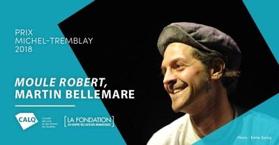 Martin Bellemare, crédit photo Émile Zeizig (Groupe CNW/Conseil des arts et des lettres du Québec)
