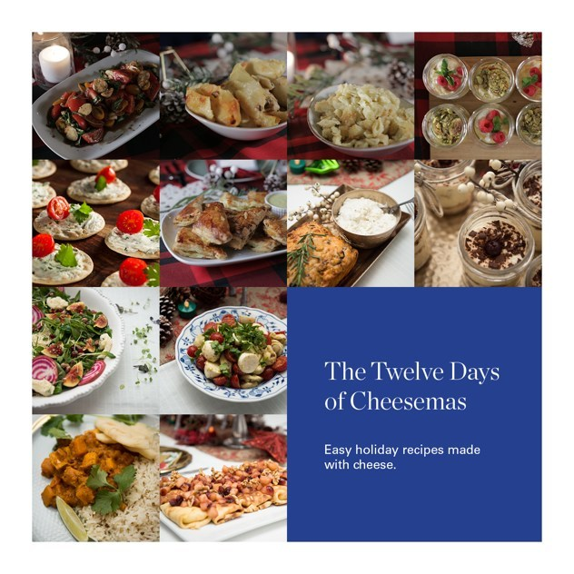The Twelve Days of Cheesemas - Easy holiday recipes made with cheese. (CNW Group/Tre Stelle)