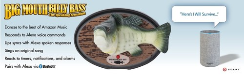 Big Mouth Billy Bass Pairs with Alexa via Bluetooth
