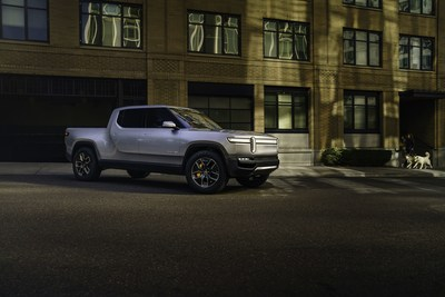 Rivian R1T all-electric pickup with up to 400+ miles range