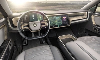 Rivian R1S electric SUV interior