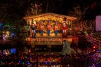 Twinkling lights reflect stunning brilliance from the pond surface at Bright Nights in Stanley Park. (CNW Group/British Columbia Professional Fire Fighters Burn Fund)