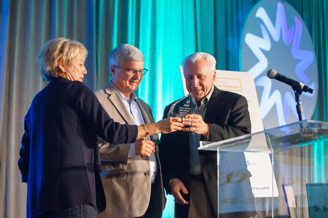 Ronald Stein (right) receives award from Cathy Reheis Boyd and Jay Churchill