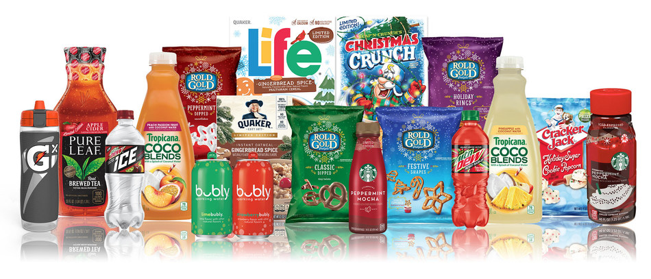 Mtn Dew Merry Mash-Up, Cracker Jack Holiday Sugar Cookie Popcorn, Quaker Gingerbread Spice Life Cereal, bubly Holiday Pack and other Seasonal Favorites on Shelf for a Limited Time