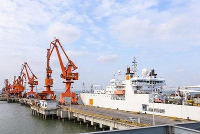 Hengtong submarine cable for Chile shipped at Hengtong's Pier 1