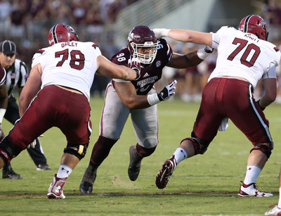 Mississippi State junior Jeffery Simmons became the first defensive tackle in the 23-year history of the C Spire Conerly Trophy to win the annual award that recognizes the Magnolia State's top college football player.  - photo courtesy of Mississippi State Athletics