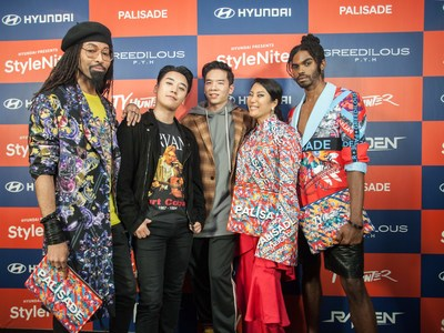 (From left) TY HUNTER, SEUNGRI (South Korean singer), DJ RAIDEN, YOUNHEE PARK, SEAN FRAZIER (fashion model).