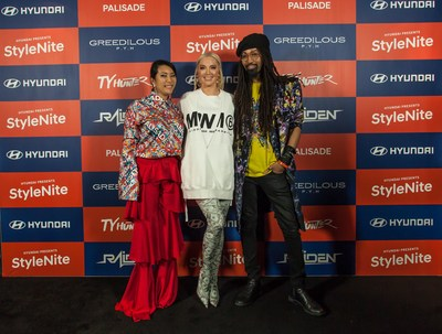 (From left) YounHee Park (the designer of GREEDILOUS), Erika Jayne, Ty Hunter