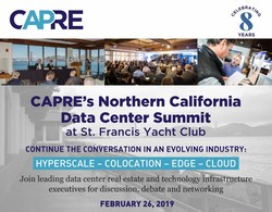 CapRate (CAPRE) is pleased to announce its Eighth Annual Northern California Data Center & Cloud Infrastructure Summit for February 26, 2019 at St. Francis Yacht Club in San Francisco. The popular annual summit is expected to convene 400+ data center real estate and technology infrastructure executives.