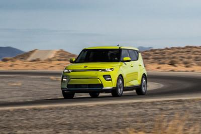 Kia presenta el totalmente nuevo Soul EV 2020 en el Salón del Automóvil de Los Ángeles; combina el espíritu del Soul con el alboroto que genera un auto totalmente eléctrico.