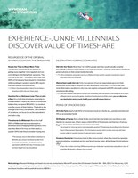 Experience-junkie millennials discover the value of timeshare