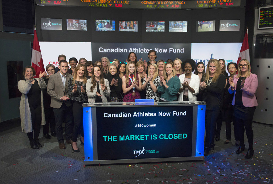 Canadian Athletes Now Fund Closes the Market (CNW Group/TMX Group Limited)