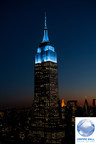 The Empire State Building & Four Other Notable NYC Buildings Turn Blue For The Empire Ball And A Diabetes Cure