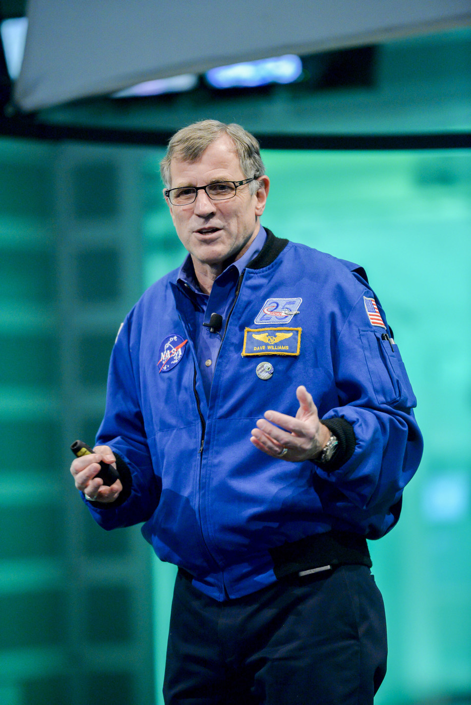 Former astronaut Dr. Dave Williams is at the Ontario Science Centre on Monday, December 3 for the launch of Expedition 58. (CNW Group/Ontario Science Centre)