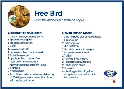 Free Bird with Caviar Ranch recipe created exclusively for 76