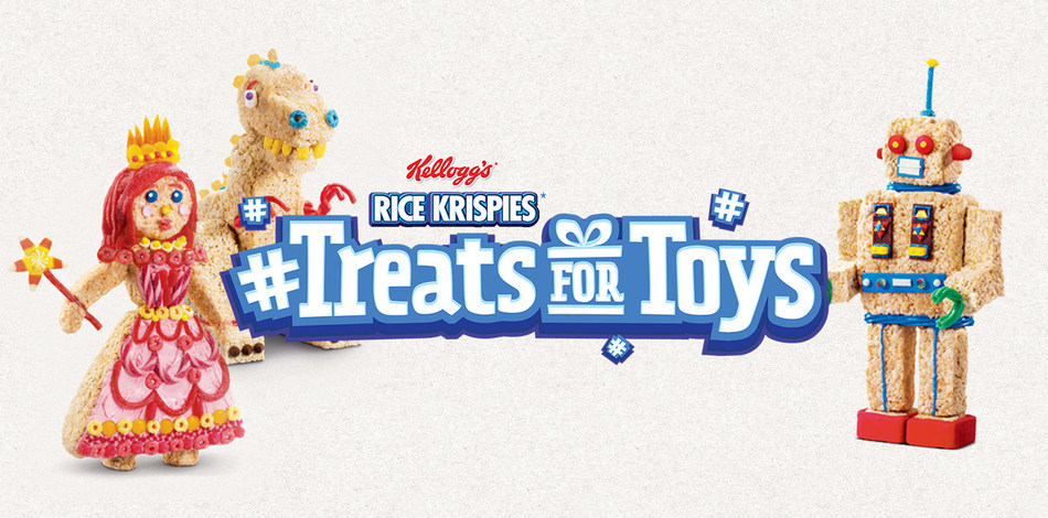 Toy-shaped Rice Krispies Treats Transform Into Real Toys For Canadian Children in Need This Holiday Season (CNW Group/Kellogg Canada Inc.)