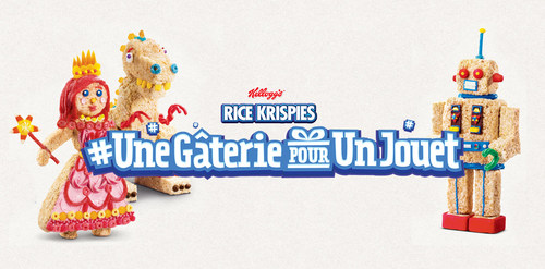 Des gâteries Rice Krispies en forme de jouet se transforment en vrais jouets pour les enfants canadiens dans le besoin cette fin d'année (Groupe CNW/Kellogg Canada Inc.)