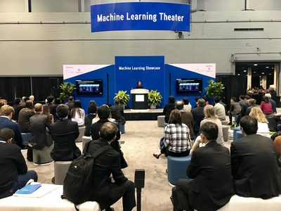YITU Healthcare Vice President Cathy Fang gives a speech at the annual meeting of Radiological Society of North America (RSNA).