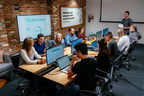 """Classy employees in the Giving Tuesday """"war room"""" at Classy HQ in San Diego, CA, November 27, 2018. A recap of Classy's Giving Tuesday platform activity can be found at https://www.classy.org/giving-tuesday/"""